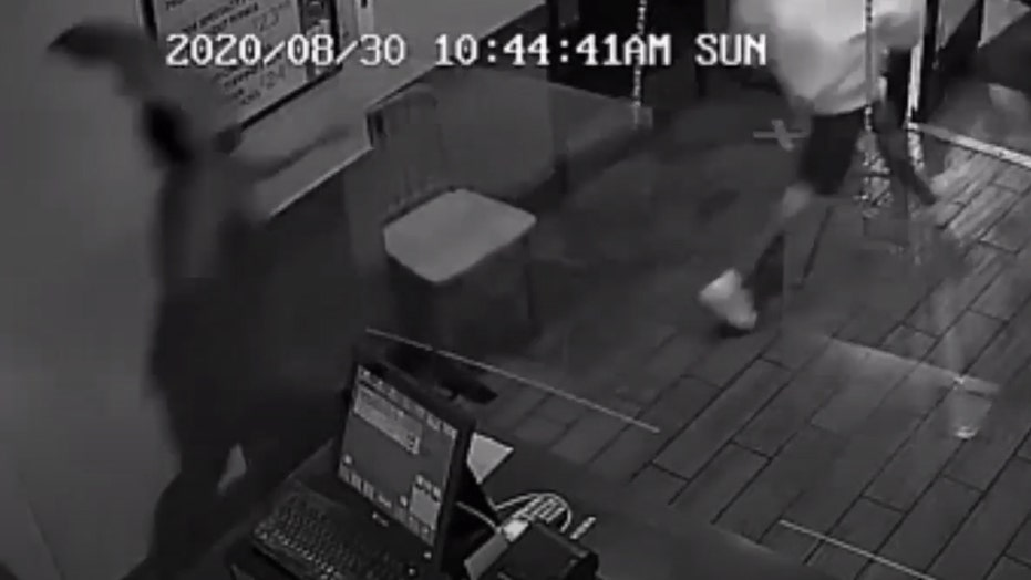 Pizza Hut employee filmed chasing robbery suspects away while brandishing pizza cutter