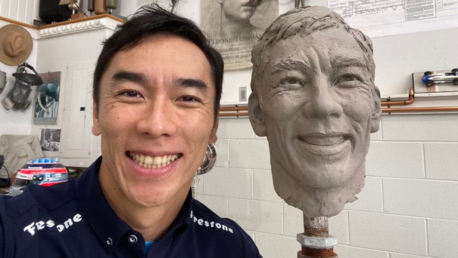 Indy 500 champ Takuma Sato's head sculpted for Borg-Warner trophy
