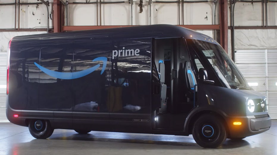 Amazon reveals first electric delivery van built for it by Rivian
