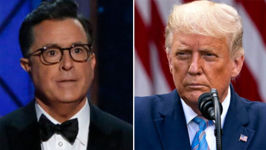 Stephen Colbert expresses rare support for Trump in 'unusual' episode: 'a serious moment for our nation'