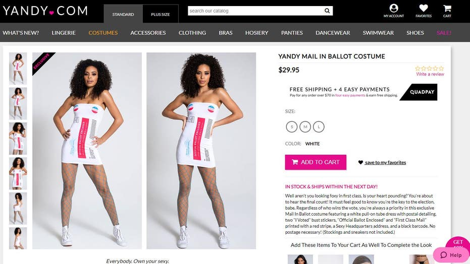 Yandy releases sexy 'mail-in ballot,' USPS worker Halloween costume ahead of the election