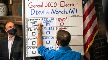 Biden takes all 5 votes in Dixville Notch, NH to notch first victory on Election Day