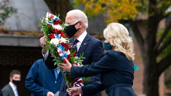 Biden honors veterans with stop at Philadelphia memorial