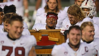Susan Rice congratulates Stanford on taking back Axe trophy