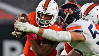 No. 9 Miami rallies behind King, D to be beat VTech 25-24