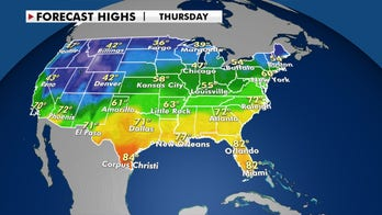Mild Thanksgiving week temperatures for much of the US