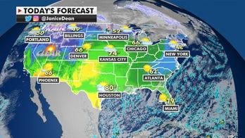 Northwest gets rain, mountain snow as central US enjoys warmer-than-average temperatures