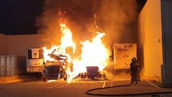 Florida authorities investigate tractor-trailer explosion near a Walmart