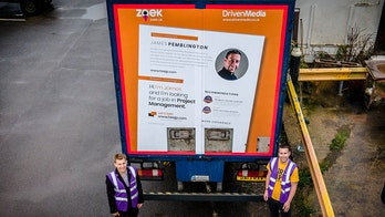 Unemployed man finds new job by posting huge resume on truck
