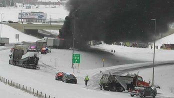 Interstate 94 in Minnesota closed due to fiery crash as snow squall limits visibility
