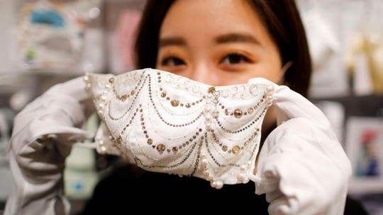 Japanese face masks being sold for $9.6G feature pearls, crystals, more