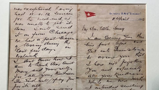 Titanic letter written by hero pastor who died in disaster surfaces