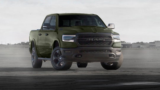 Tank Green, Flame Red Ram 1500 pickups honor US Marines