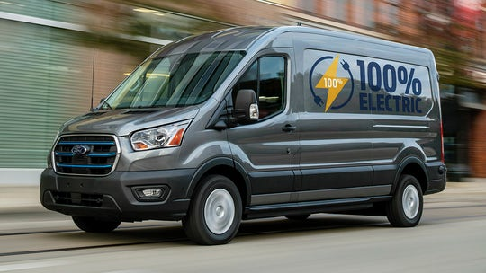 2022 Ford E-Transit electric van debuts with 126-mile range