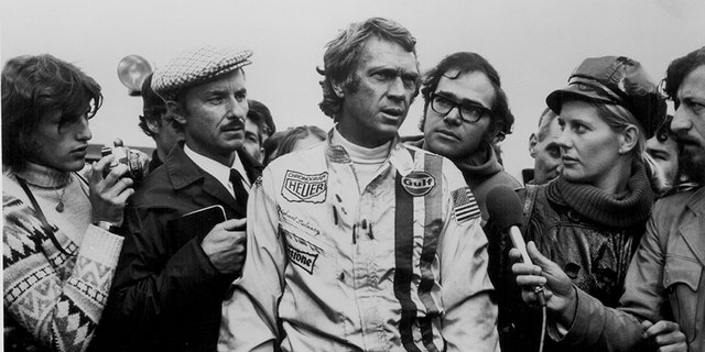 "Actor Steve McQueen in a scene from the movie ""Le Mans"" 1971."