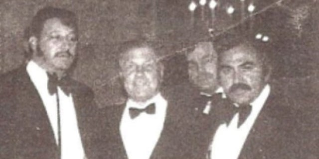 Ralph Natale, on the far right, with Jimmy Hoffa.
