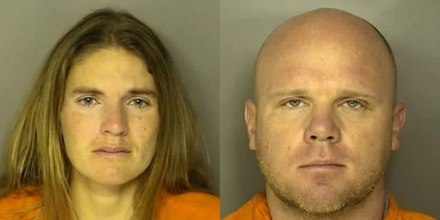 Mugshots for Meagan Marie Jackson,35, andDeputy Horry County Coroner Christopher Dontell.