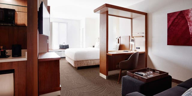 The man tricked a hotel into giving him discounts totaling thousands of dollars during at least 10 trips over five years. (SpringHill Suites)