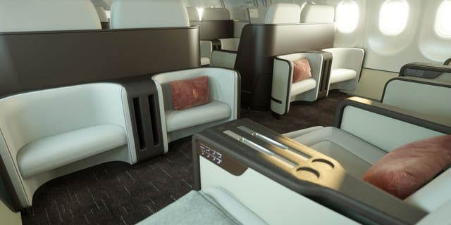 The NEW Airbus A321neo-LR jet has been customized with a 48-seat interior. (Four Seasons Hotels and Resorts)