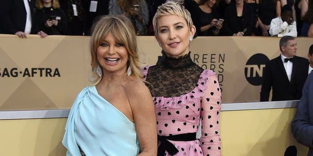 Kate Hudson wished her mother Goldie Hawn a happy birthday on Instagram. (Photo by Jordan Strauss/Invision/AP)