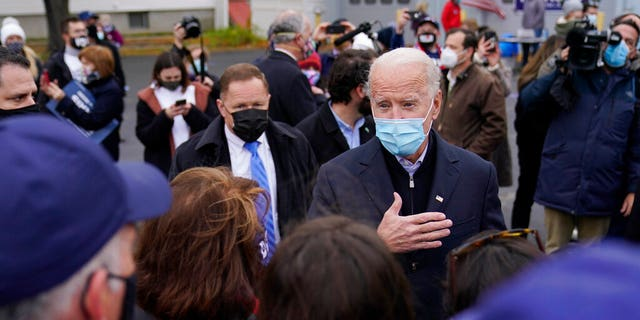 Democratic presidential candidate former Vice President Joe Biden speaks during a campaign event in Scranton, Pa., Tuesday, Nov. 3, 2020. (AP Photo/Carolyn Kaster)