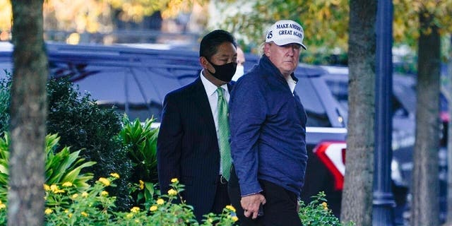 President Donald Trump arrives at the White House after golfing Nov. 7, in Washington. (AP Photo/Evan Vucci)