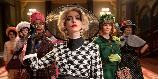 Anne Hathaway (center) played Grand High Witch in HBO Max's 'The Witches' and drew criticism for the physicalities of her character.