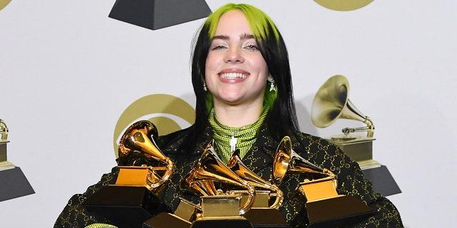Billie Eilish won five Grammy Awards earlier this year. (Steve Granitz / WireImage摄)