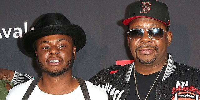 Singer Bobby Brown, right, with his son Bobby Jr., who was found dead Wednesday at age 28. (Photo by Maury Phillips/Getty Images for BET)