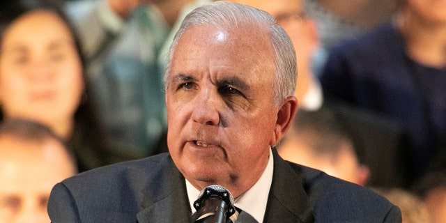 Carlos Gimenez, mayor of Miami-Dade, Florida, speaks during a rally with Venezuelans living in Miami, Fla., Feb. 1, 2020. (REUTERS/Eva Marie Uzcategui)