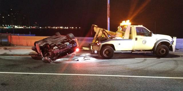 Two Ferrari passengers were not seriously injured.