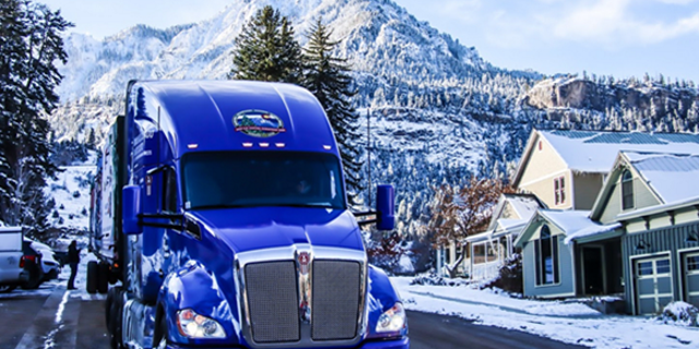 The truck traveling through Ouray, Colorado on November 11. Photo credit: James Edward Mills