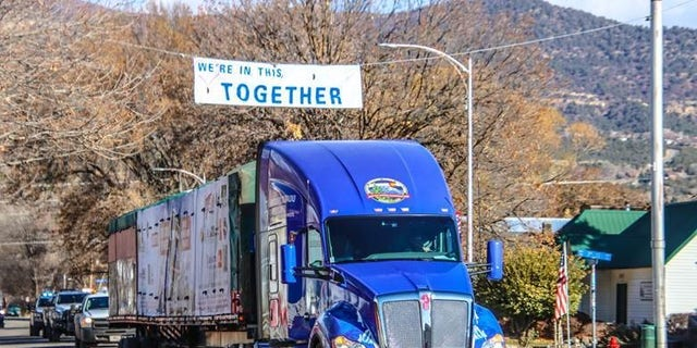 The truck traveling through Paonia, Colorado on November 12. Photo credit: James Edward Mills