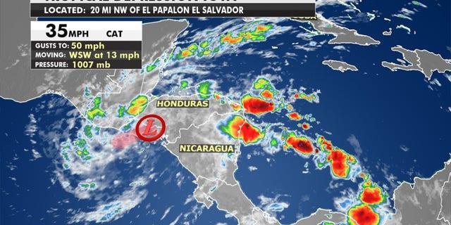 Iota has weakened to a tropical depression.