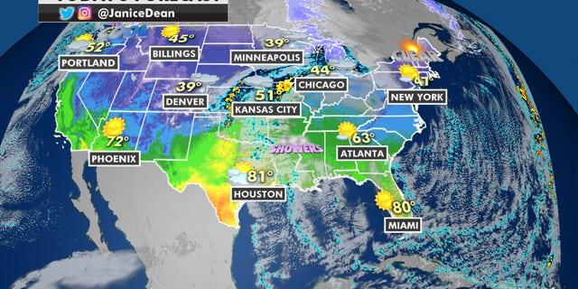 Forecast for Nov 23, 20. (Fox News)