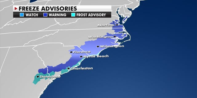 Freeze advisories.