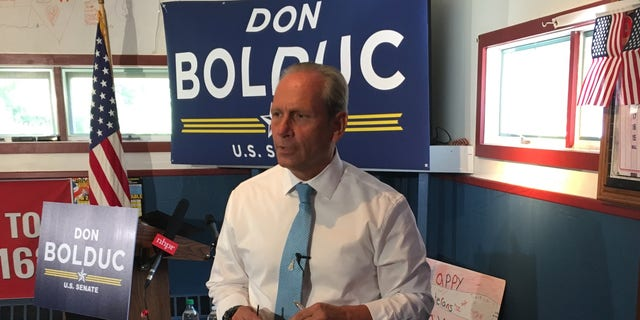 Retired Army Gen. Don Bolduc announces his 2020 run for Senate in New Hampshire, in Concord, NH. in June 2019