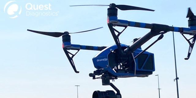 The COVID-test drone delivery project involves Walmart, Quest Diagnostics and DroneUp.