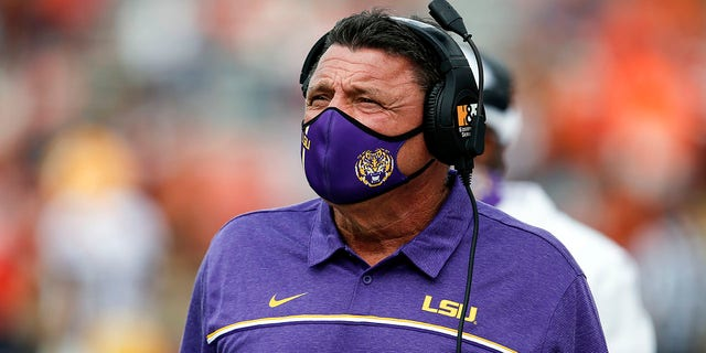 LSU head coach Ed Orgeron responded to the allegations Monday. (AP Photo/Butch Dill)
