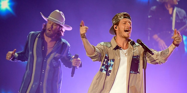 Brian Kelley and Tyler Hubbard of Florida Georgia Line performs onstage during the 55th Academy of Country Music Awards at the Grand Ole Opry on September 14, 2020. (Photo by Jason Kempin/ACMA2020/Getty Images for ACM)
