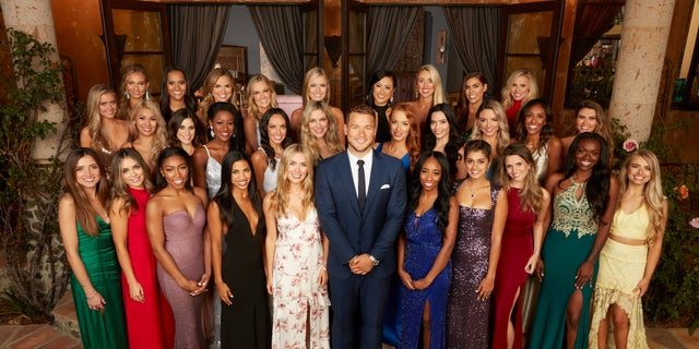 "Colton Underwood with contestants of Season 23 of ""The Bachelor"" in Villa de la Vina."