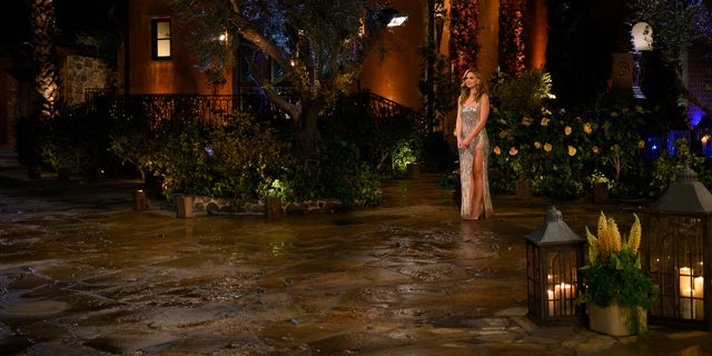 "Hannah Brown outside Villa de la Vina during the premiere of Season 15 of ""The Bachelorette."""