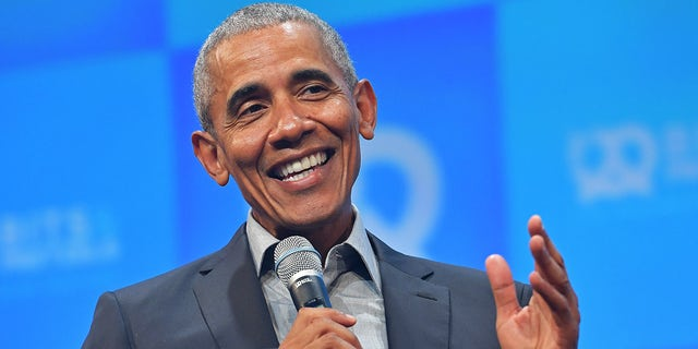 Former U.S. President Barack Obama speaks at the opening of the Bits & Pretzels meetup on September 29, 2019 in Munich, Germany. Obama will campaign in Georgia for Raphael Warnock and Jon Ossoff on Friday. (Photo by Hannes Magerstaedt/Getty Images)