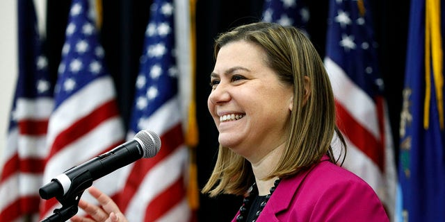 U.S. Rep. Elissa Slotkin, D-Mich., speaks at a town hall meeting in Rochester, Mich., Dec. 16, 2019. (Getty Images)