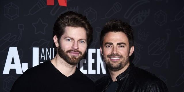 Jaymes Vaughan (left) and Jonathan Bennett began dating in 2017.