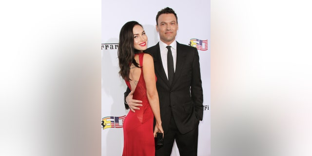 Actors Megan Fox and Brian Austin Green attend Ferrari's 60th Anniversary In The USA Gala at the Wallis Annenberg Center for the Performing Arts on October 11, 2014 in Beverly Hills, California. (Photo by Paul Archuleta/FilmMagic via Getty Images)