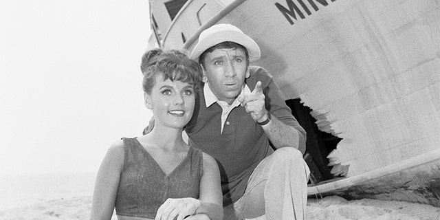 'Gilligan's Island' cast members, from left, Dawn Wells (as Mary Ann Summers) and Bob Denver (as First Mate Gilligan) appearing in the pilot episode.