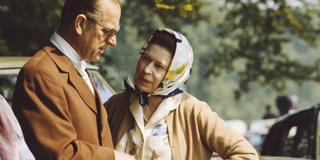 """The Duke of Edinburgh,<a href=""""https://www.foxnews.com/category/world/personalities/queen"""" target=""""_blank"""">Queen Elizabeth II</a>'s husband of 73 years,<a href=""""https://www.foxnews.com/category/entertainment/events/departed"""" target=""""_blank"""">died</a>on April 9. Here, the queen and Prince Philip chatting during the royal windsor horse show on the grounds of Windsor Castle years ago."""