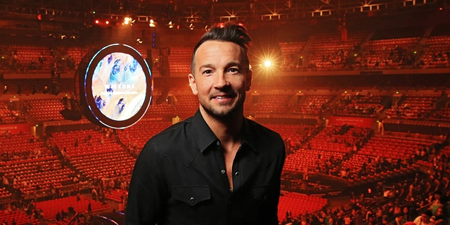Hillsong NYC Pastor Carl Lentz pictured backstage at the Hillsong Conference at Allphones Arena in Sydney, New South Wales. (Toby Zerna/Newspix/Getty Images)