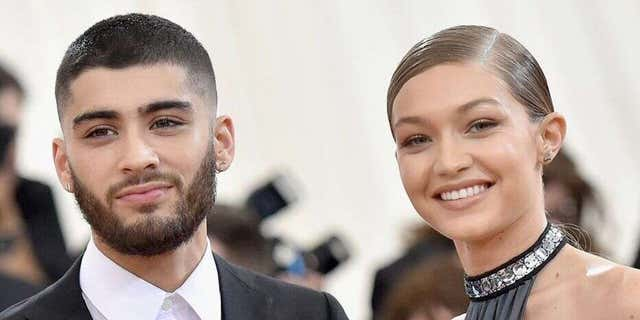 Gigi Hadid, right, and Zayn Malik, left, confirmed the arrival of their daughter in separate posts on social media in September.